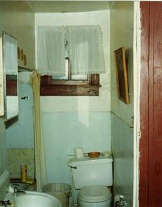 Bathroom in room where Bessie Smith died, Riverside Hotel