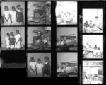 Set of negatives by Clinton Wright including King and Queen Beauty Salon, Nora McGee, Joe Neal's team, Miss Cleopatra contest, Alpha Gamma, and Mrs. Hoggard's class, 1967