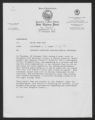 Memorandum to: Major John Laws, From: Lieutenant L. J. Lance, Subject: Incident Involving Possible Racial Overtones, February 27, 1968