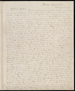 Letter from Anne Warren Weston, Boston, to Deborah Weston, April 18, 1837, Tuesday evening