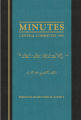 """Minutes: Central Committee 1963,"" compiled by secretary Ruth Barefield Pendleton."