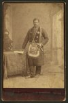 [African American man, member of the Grand United Order of Odd Fellows, wearing fraternal order collar and apron]