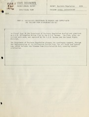Agency annual report : part v - activities undertaken to promote and comply with the freedom from discrimination act, 1976