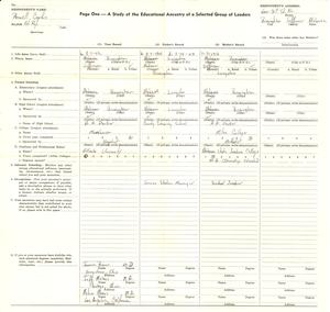 Student family histories: Parnell, Cephus