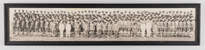 Framed panoramic photograph of M Company, 365th Infantry, 183d Brigade