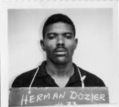 Mississippi State Sovereignty Commission photograph of Herman Dozier taken at the time of his arrest in Grenada, Mississippi, 1966 October 28