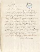 Letter from Leonard Chase to Lewis Tappan