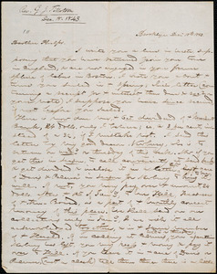 Letter from George Jeffrey Tillotson, Brooklyn, [Conn.], to Amos Augustus Phelps, 1843 Dec[ember] 18th