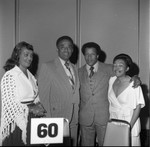 Arnett Hartsfield with Frank and Margaret Holoman, Los Angeles, 1974