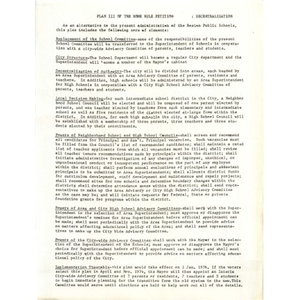 Plan III of the home rule petition Decentralization.