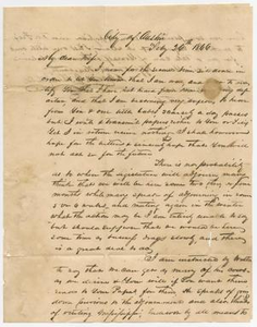 Letter from David C. Dickson to his wife - July 26, 1846