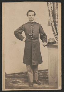[First Lieutenant George W. Edwards of Co. D, 12th New Hampshire Infantry Regiment in uniform]