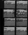 Set of negatives by Clinton Wright including Quality Cafe, Kit Carson Drill Team at School, Helldorado Parade, Kit Carson and Matt Kelly, 1964