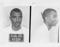 Mississippi State Sovereignty Commission photograph of James M. Hopkins, Jr. following his arrest for his participation in a sit-in at Livingston Park in Jackson, Mississippi, 1961 June 10