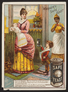 Trade card for Warner's Safe Yeast, Warner's Safe Yeast Co., Rochester, New York, undated