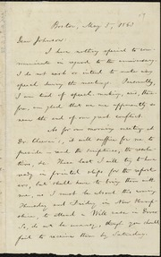 Letter to] Dear Johnson [manuscript