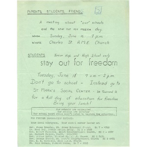 Freedom Stay-out Day.
