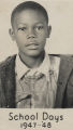 School portrait of an African American boy.