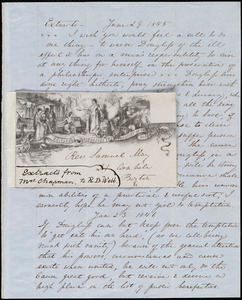 Extracts of three letters from Maria Weston Chapman to Richard Davis Webb, [Not before 24 Feb. 1846]