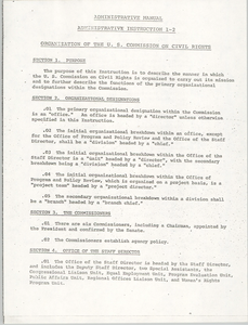 Administrative Manual Instruction 1-2, Organization of the U.S. Commission on Civil Rights