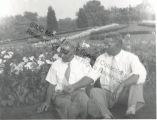 Men Sitting in the Lawn