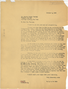 Letter from W. E. B. Du Bois to George Foster Peabody