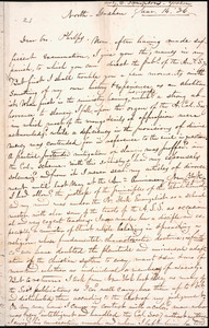 Letter from Guy C. Sampson, North Goshen, to Amos Augustus Phelps, Mar. 14. 36.