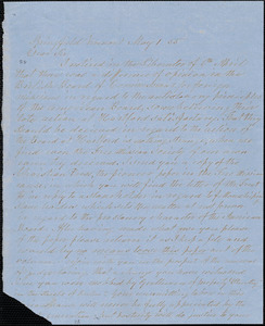 Letter from Jesse Stedman, Springfield, Vermont, to William Lloyd Garrison, [18]55 May 1