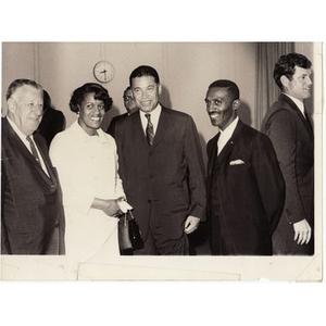 Thumbnail for Kivie Kaplan, Senator Edward W. Brooke, and Reverend Michael E. Haynes.