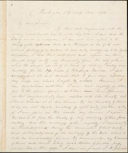 Letter from Joseph Parrish, Burlington, [New Jersey], to William Lloyd Garrison, 1838 [May] 23d