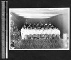 Choir at Christmas service, Fukien Christian University, Shaowu, Fujian, China, 1939