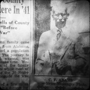 C. F. Adams, School Superintendent