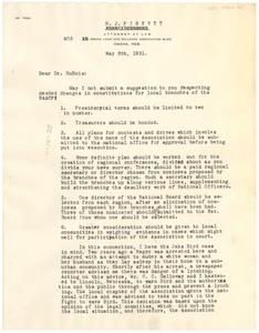 Letter from N.A.A.C.P. Omaha Branch to W. E. B. Du Bois