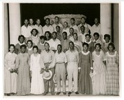 """1942 Muny production of """"Show Boat"""": Chorus of African-American men and women"""