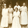 Knoxville College nurses on hospital porch