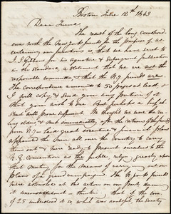 Letter from Maria Weston Chapman, Boston, [Mass.], June 12th, 1843
