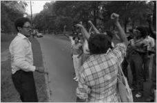 African American protest rally, Cartersville, Georgia, September 22, 1980.
