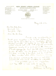 Letter from William M. Ashby to W. E. B. Du Bois