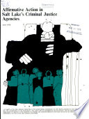 Affirmative action in Salt Lake's criminal justice agencies : a report