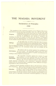 Thumbnail for Niagara Movement declaration of principles