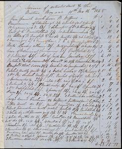 Letter from Eliza Wigham, [Edinburgh, Scotland], to Anne Warren Weston, 11th mo[nth] 14th [day] 1848