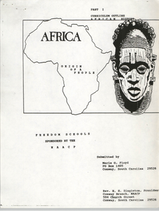 Africa, Part I, Curriculum Outline of African History