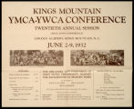 Kings Mountain YMCA-YWCA Conference Twentieth Annual Session
