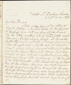 Letter from Elizabeth Pease Nichol, London, [England], to Maria Weston Chapman, 1839 [October 26]