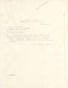 Letter from W. E. B. Du Bois to R. O'Hara Lanier