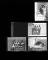 Set of negatives by Clinton Wright including Matt Kelly basketball team, Kappas intern at Doolittle Center, Mrs. Goldie Johnson Anniversary, and Small Business Loan meeting, 1965