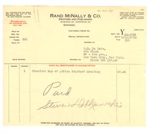 Invoice from Rand McNally & Co. to W. E. B. Du Bois