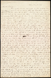 Letter from Abby Kelley Foster, Utica, [NY], to Maria Weston Chapman, Nov. 2, [18]43