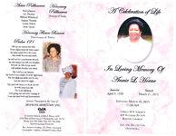 A celebration of life, in loving memory of Annie L. Horne, Saturday, March 28, 2015, 11:00 a.m., Trinity M.B. Church, 439 Railroad Avenue, Boston, Georgia, Rev. Dr. Dellise Cox, officiating