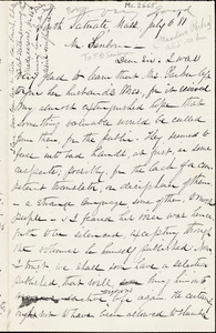 Thumbnail for Letter from William Henry Fish, South Scituate, [Massachusetts], to Franklin Benjamin Sanborn, 1881 July 6